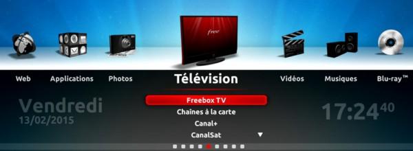 menu tv